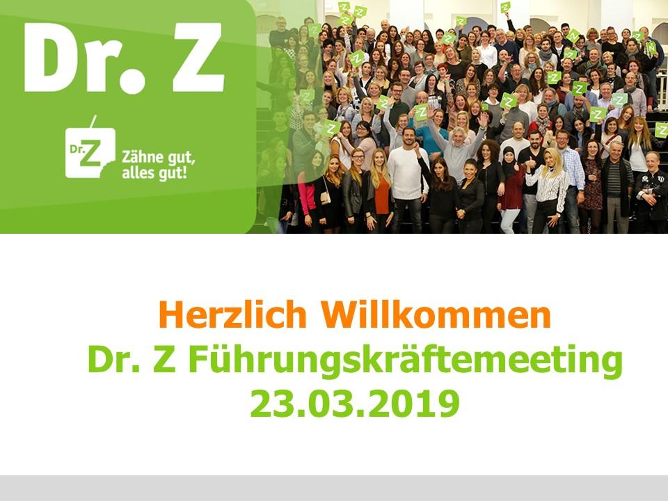Führungskräftemeeting bei Dr. Z